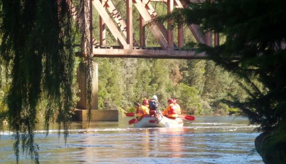 King River Steam River and Raft Experience