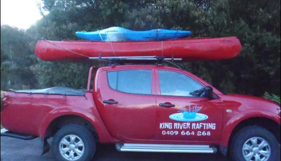 King River Rafting white water rafting vehicle
